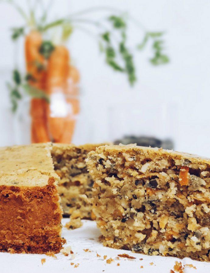 Carrot cake saludable, fácil y rápido
