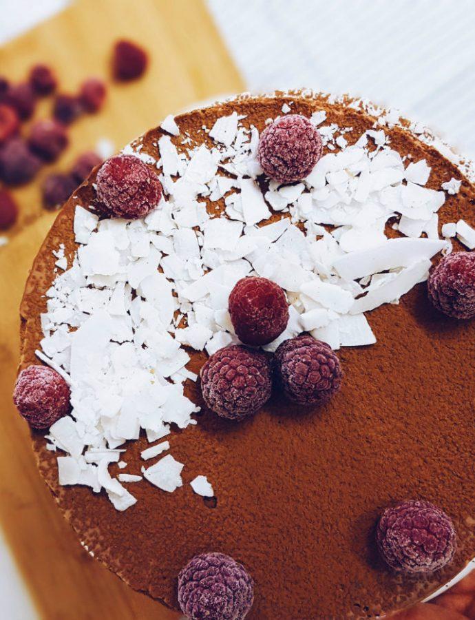 Cheesecake de chocolate, saludable y muy fácil de hacer