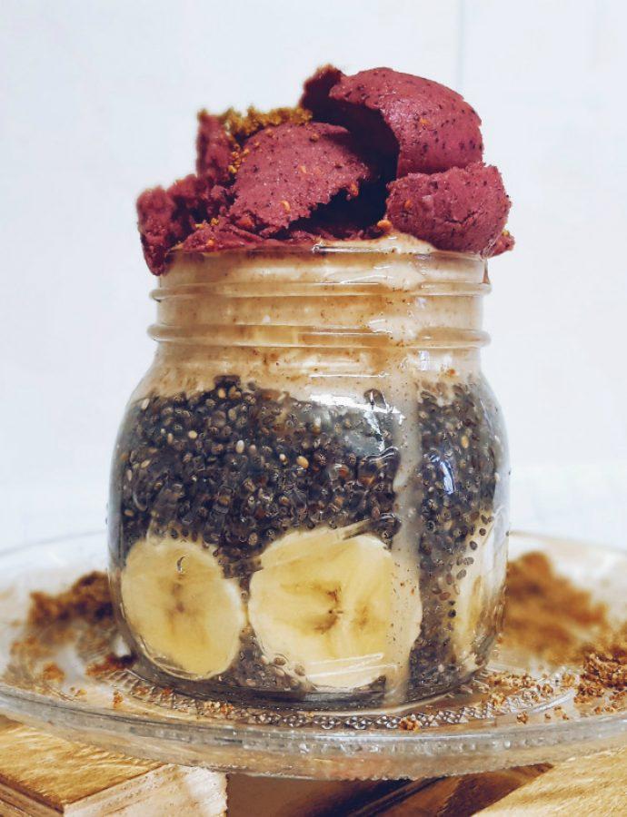 Pudin de chía, opción de desayuno vegano