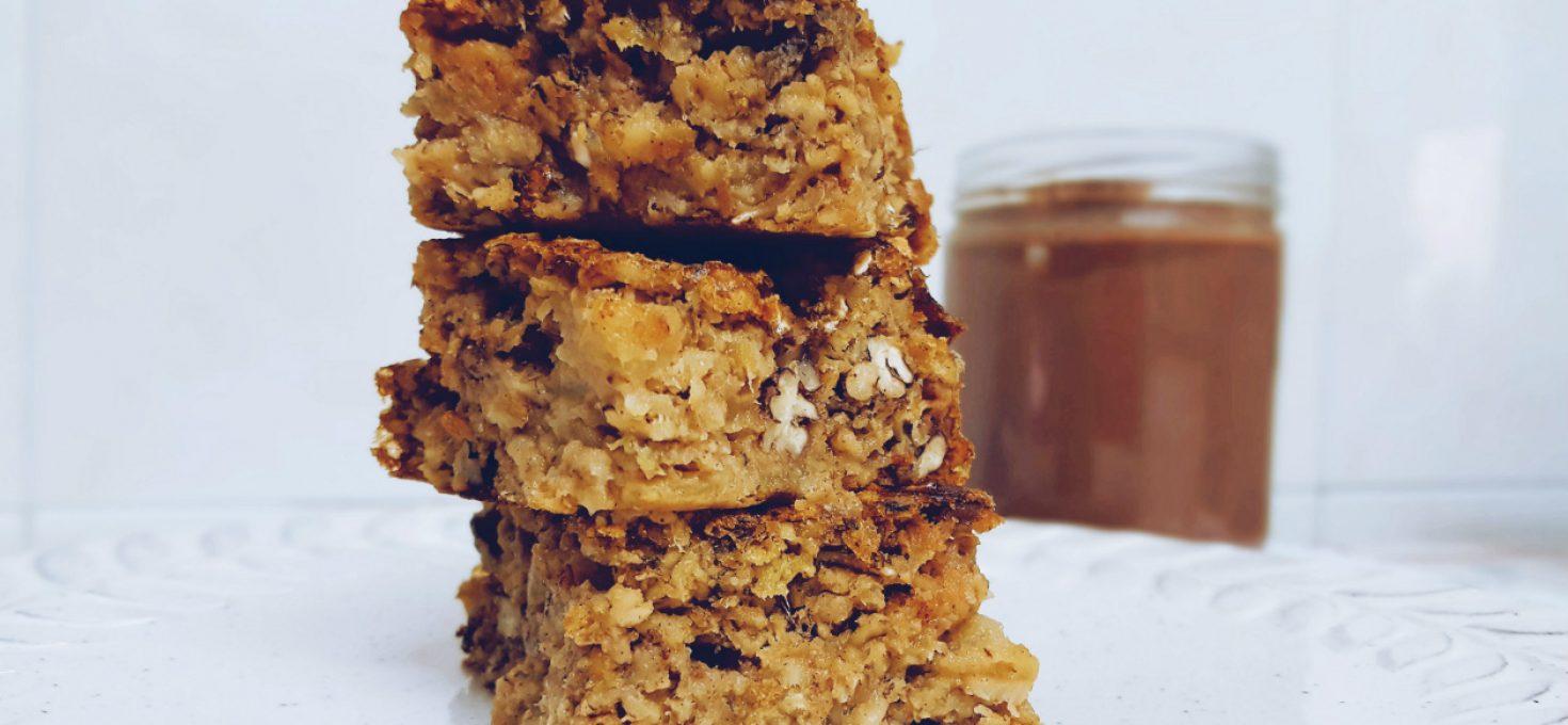 Tarta de avena horneada, idea de merienda saludable