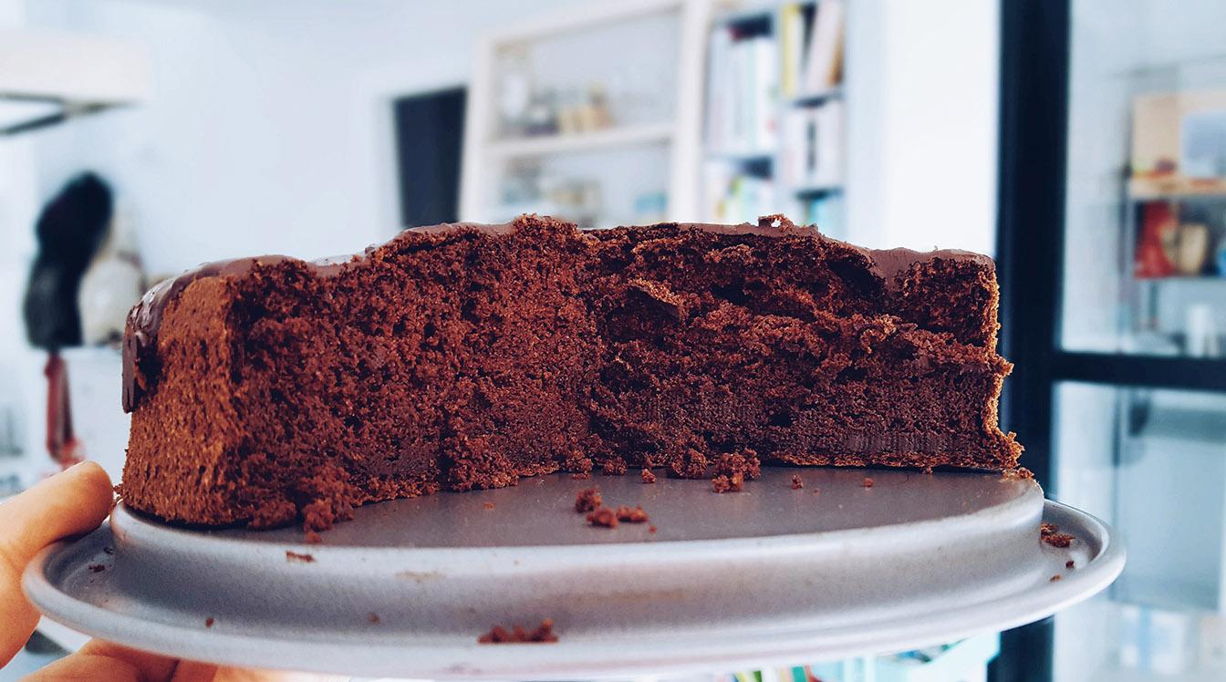 Tarta de chocolate saludable sin gluten