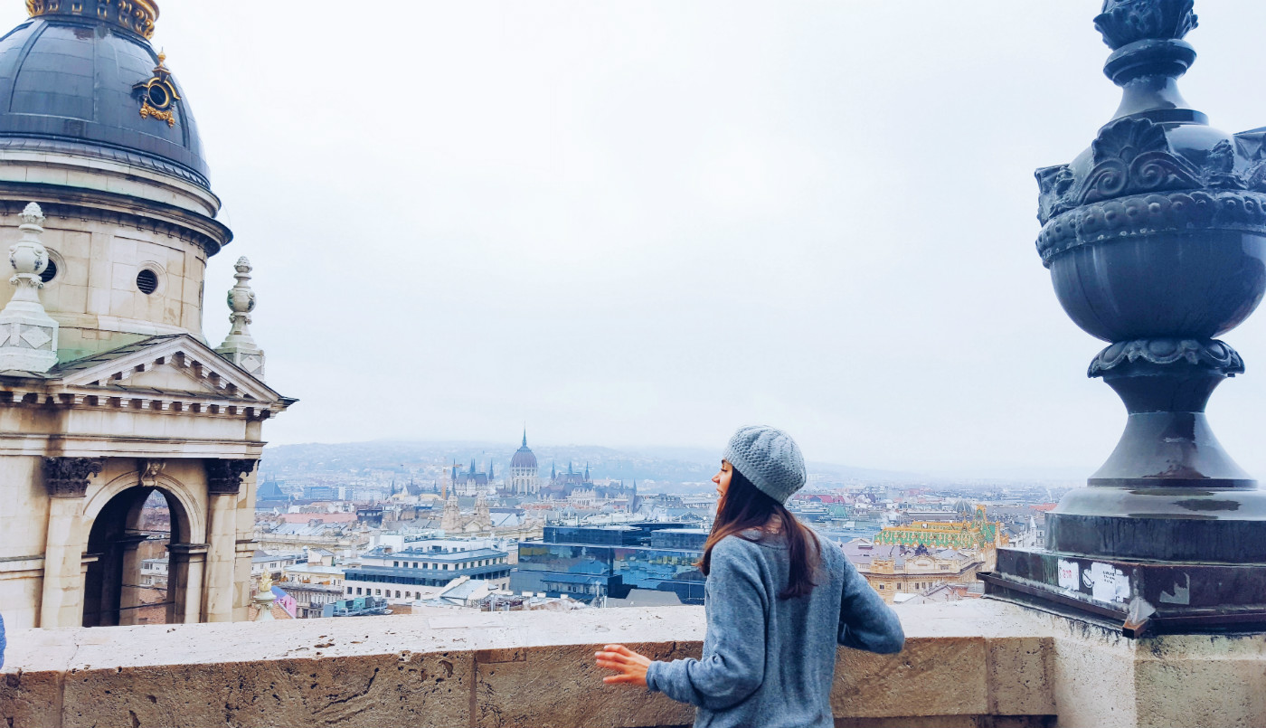 Mirador en la cúpula de San Esteban en Budapest en tres días