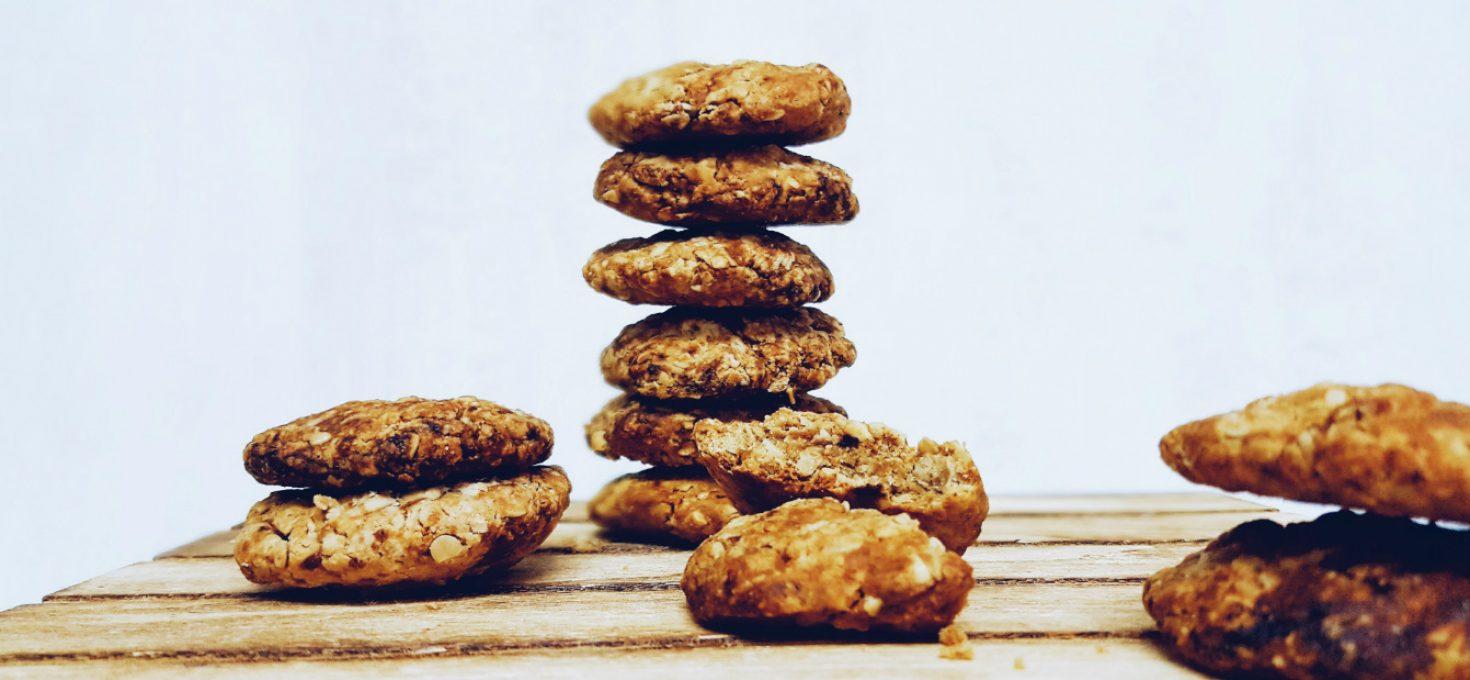 Cookies de avena saludables y veganas