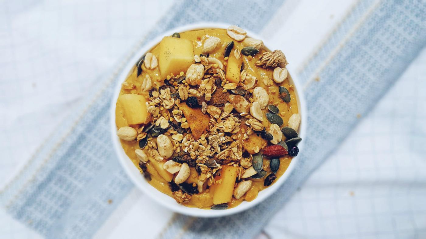 Qué cómo en un día saludable porridge