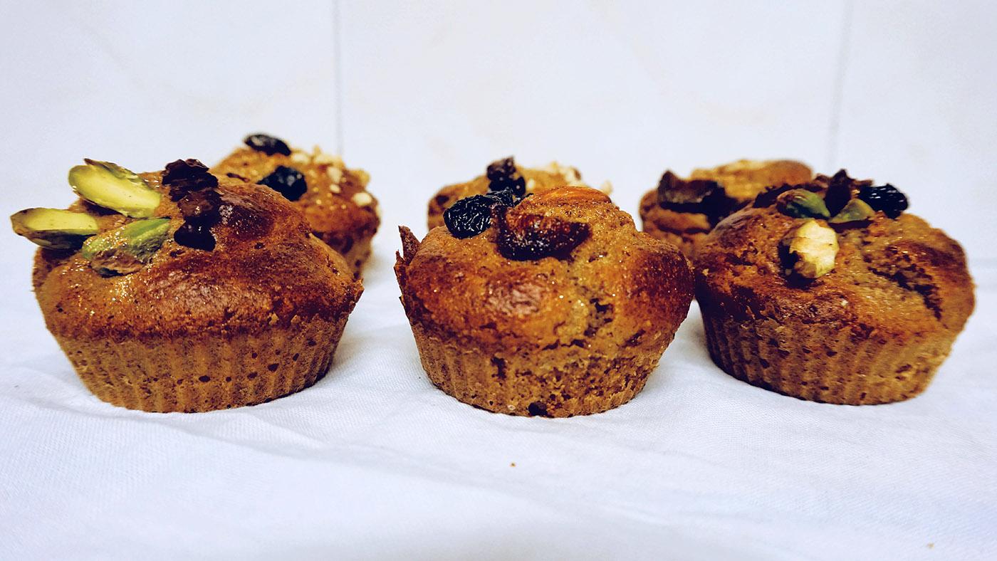 muffins de naranja saludables