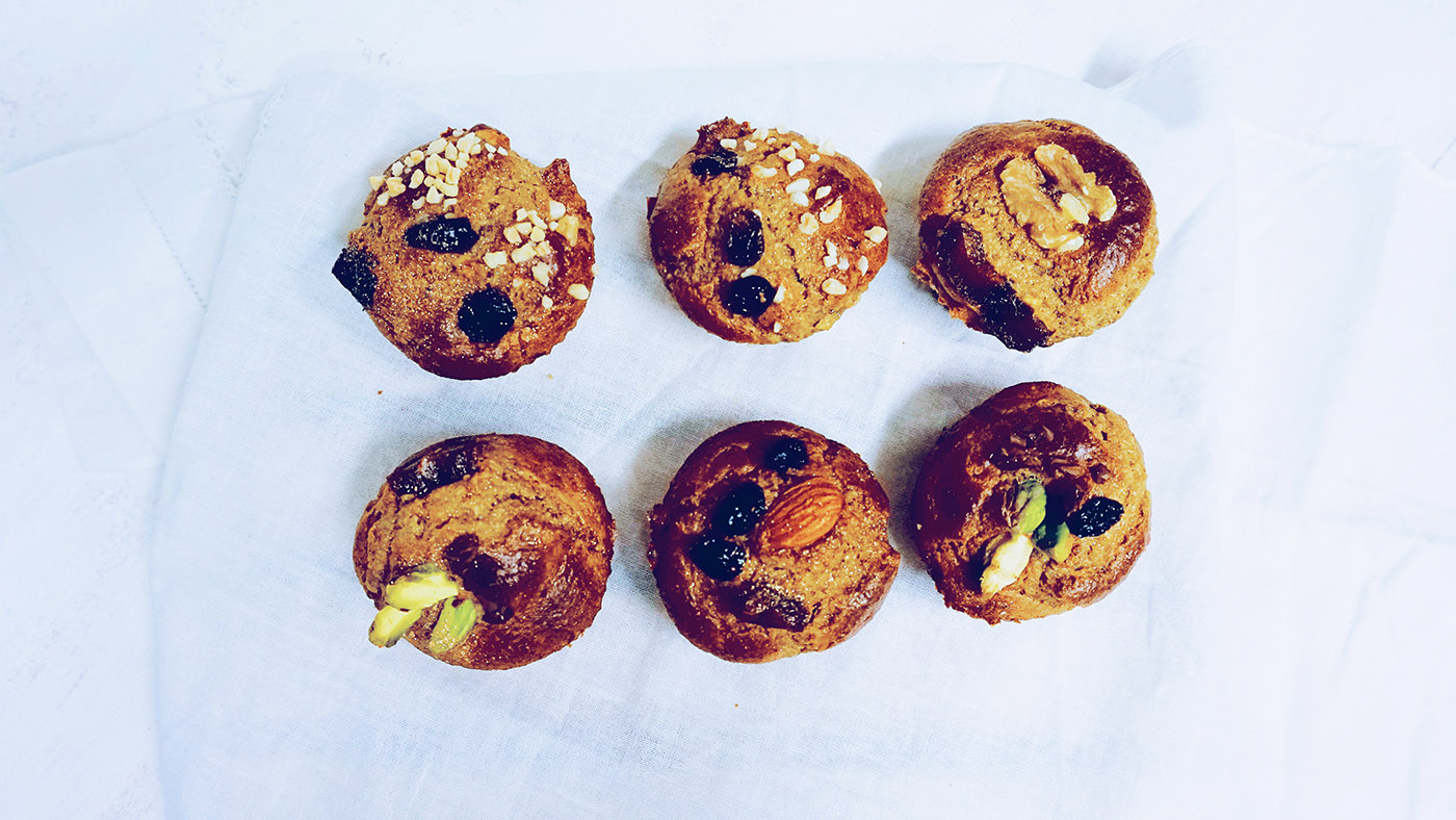 Muffins de naranja, almendra y coco