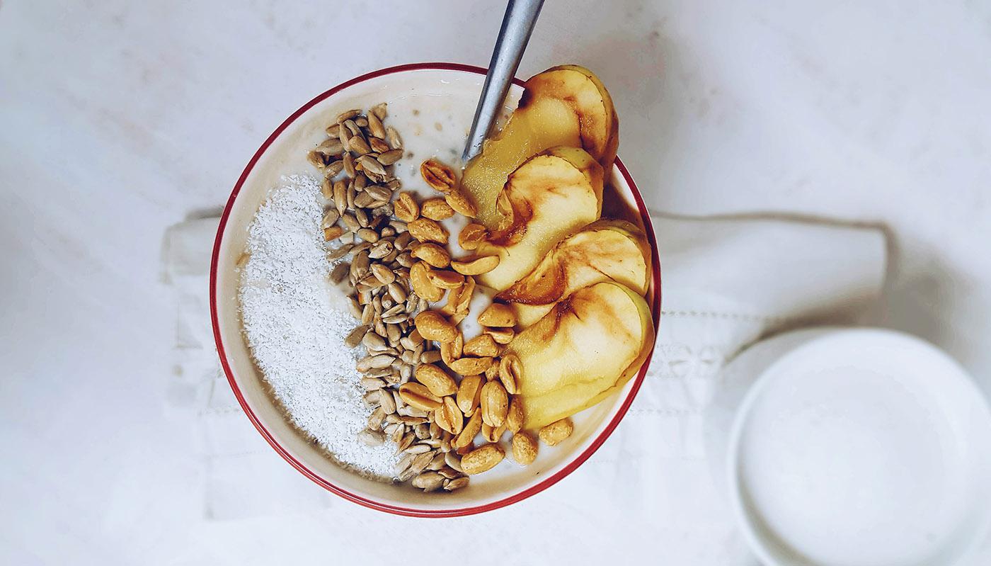 idea de desayuno para blanqueamiento dental
