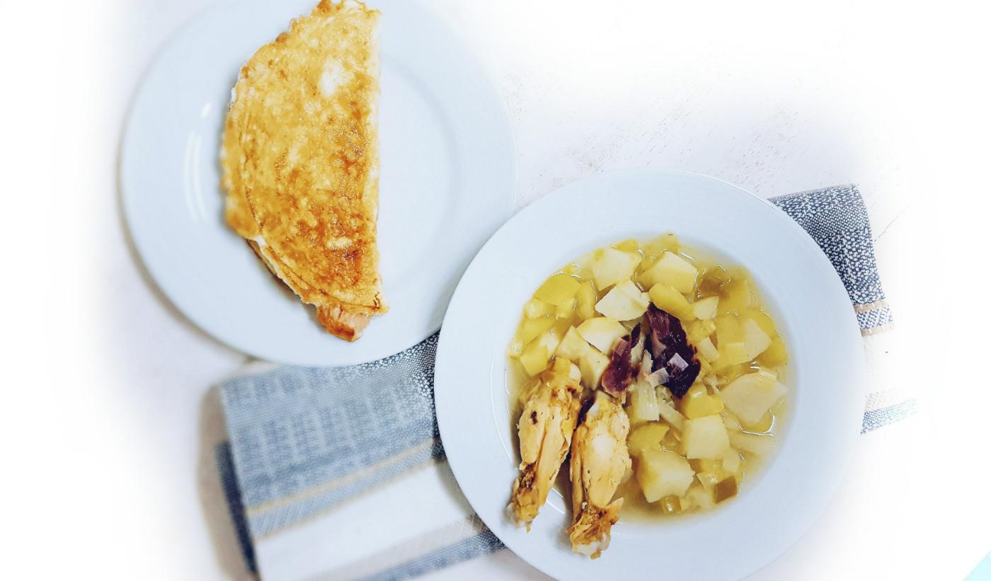 Cena saludable para la dieta blanca
