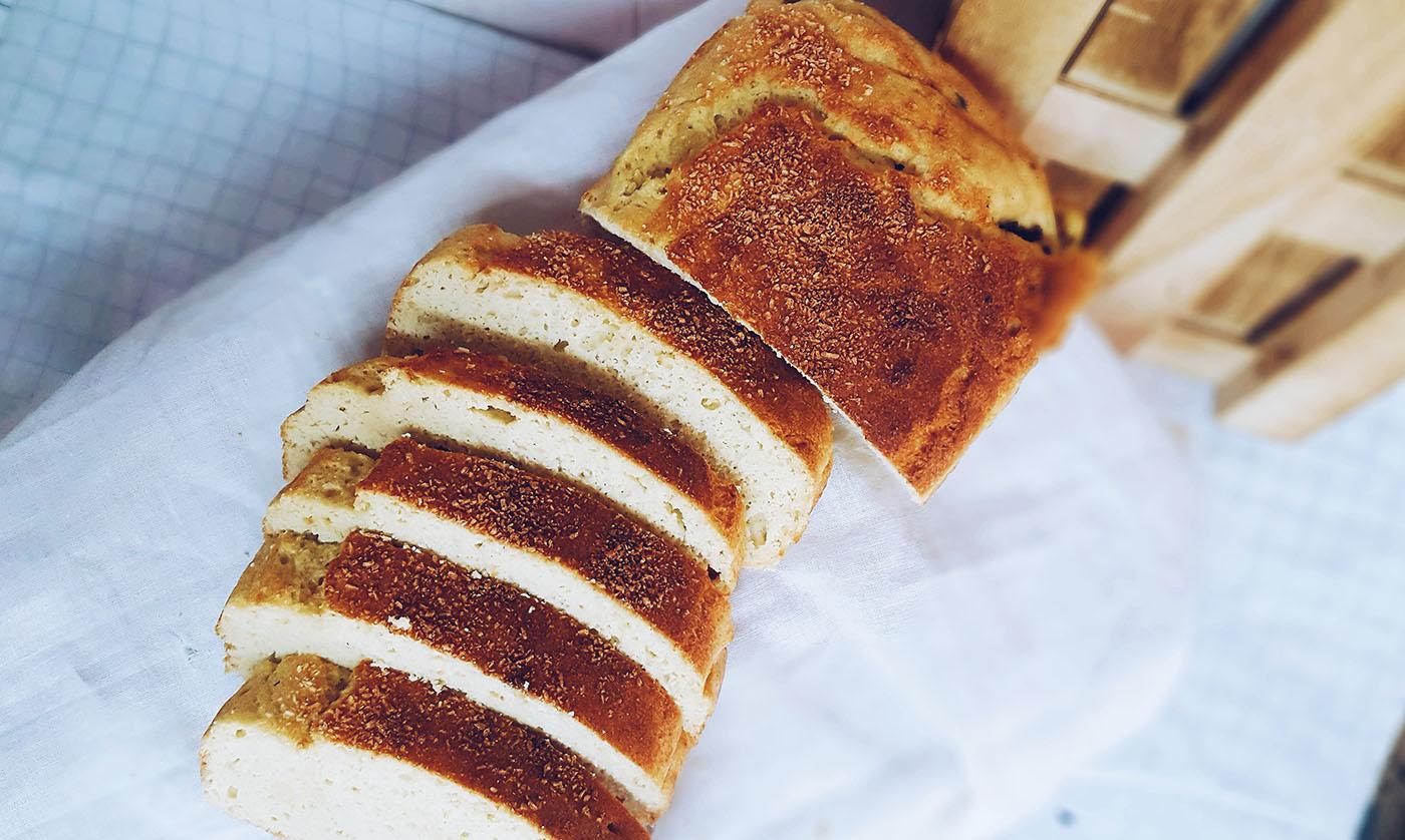 receta de pan de coco saludable
