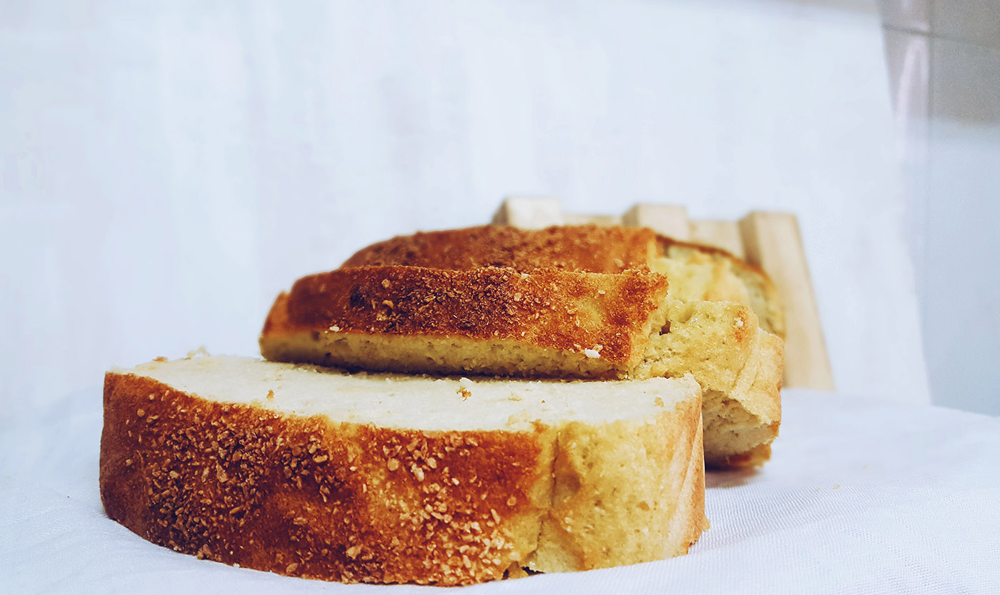 pan de coco sin azúcares añadidos