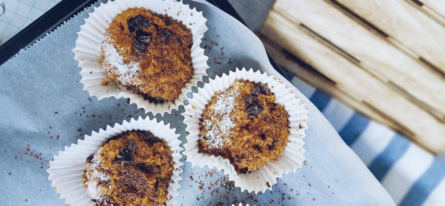 Muffins de calabaza y cacao sin gluten