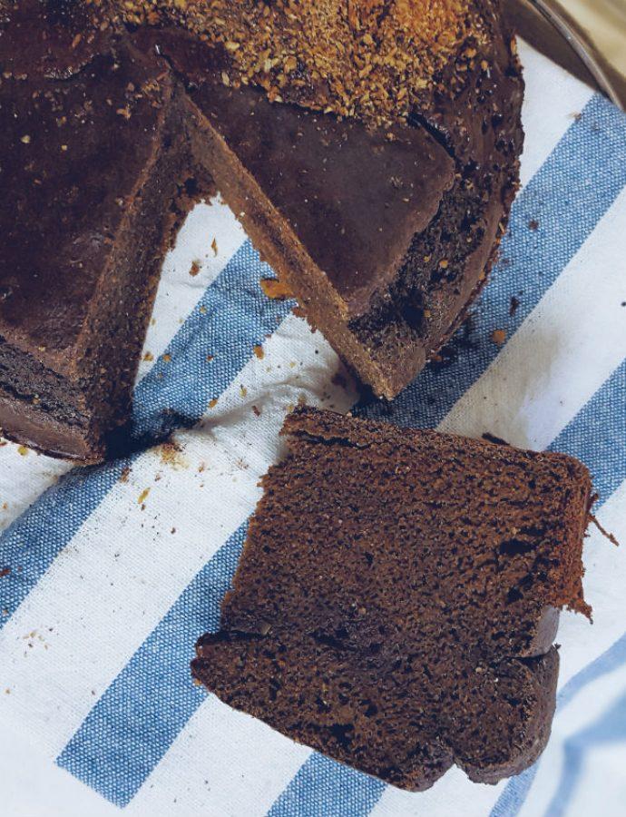 Tarta de maíz y cacao saludable súper fácil