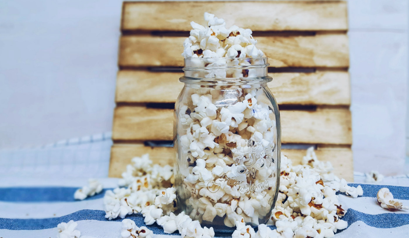 Receta de palomitas de maíz saludables