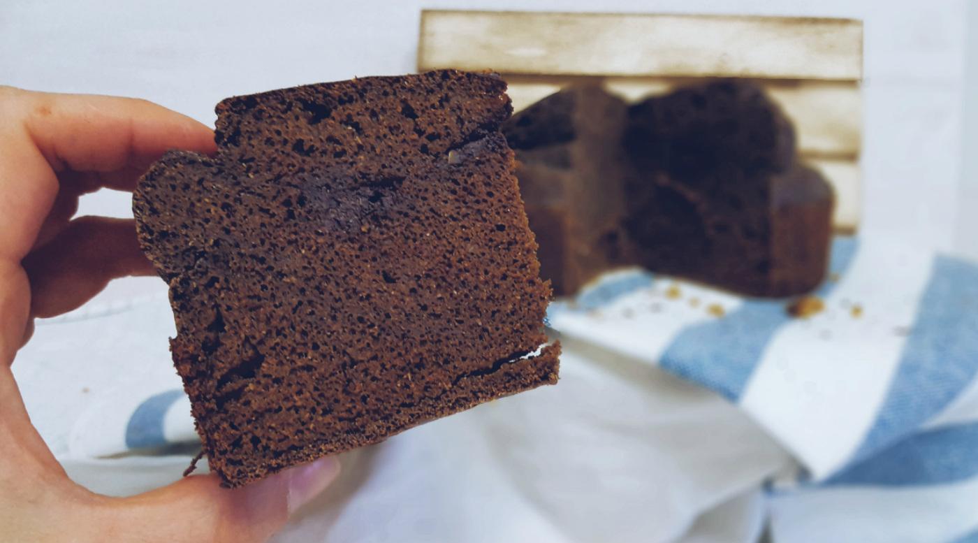 Tarta de maíz y cacao saludable sin azúcar