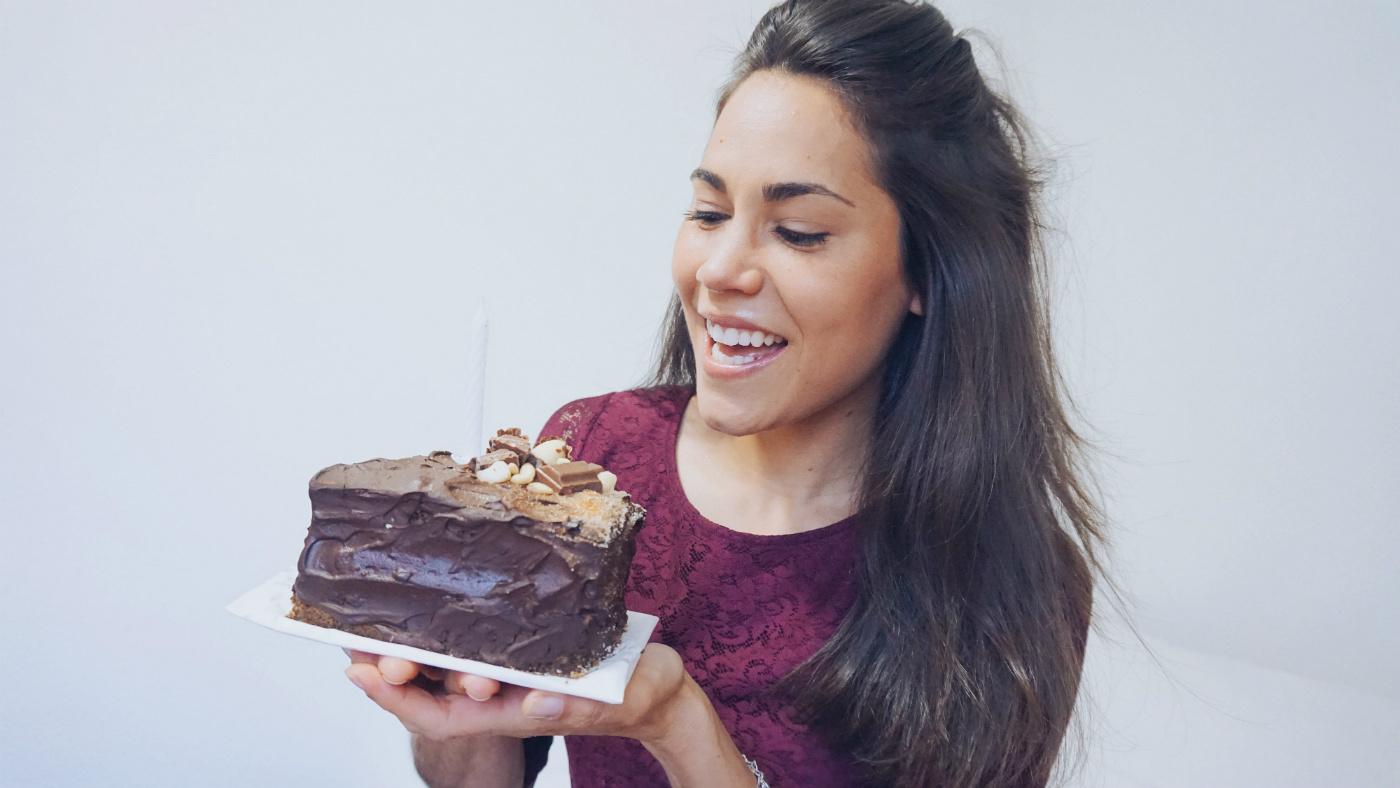 tarta de café saludable para tu cumpleaños