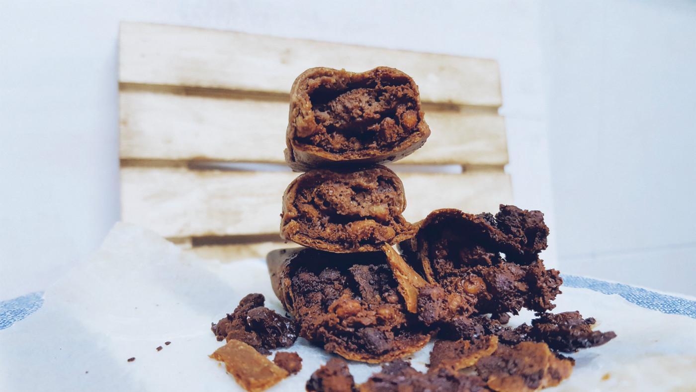 Barritas de hojaldre rellenas de chocolate saludables