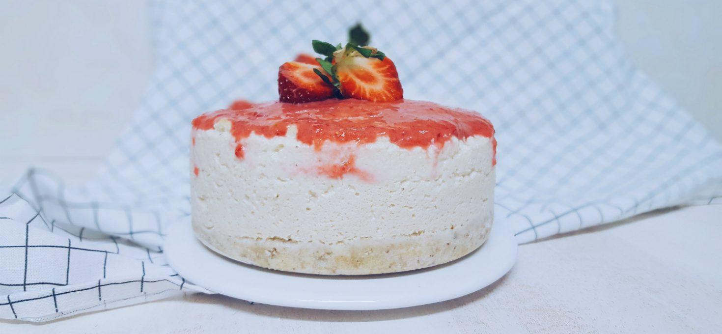 Cheesecake vegano con anacardos y tofu