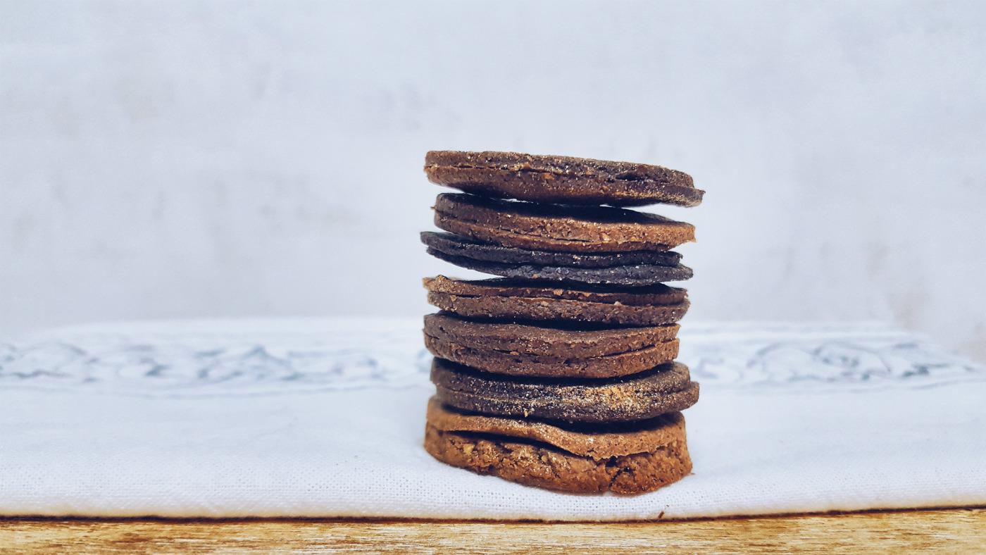 Mini cookies de centeno integrales