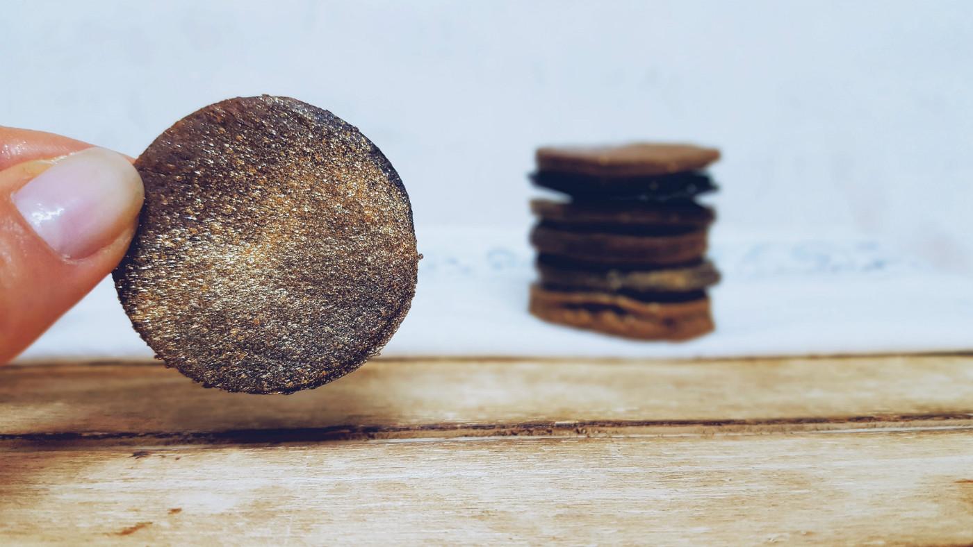 Mini cookies de centeno integral
