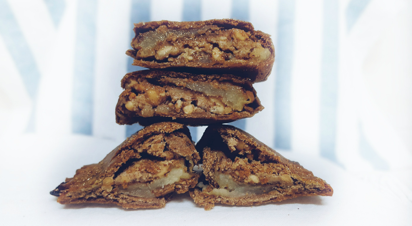 Receta de empanadillas de manzana con cacahuetes