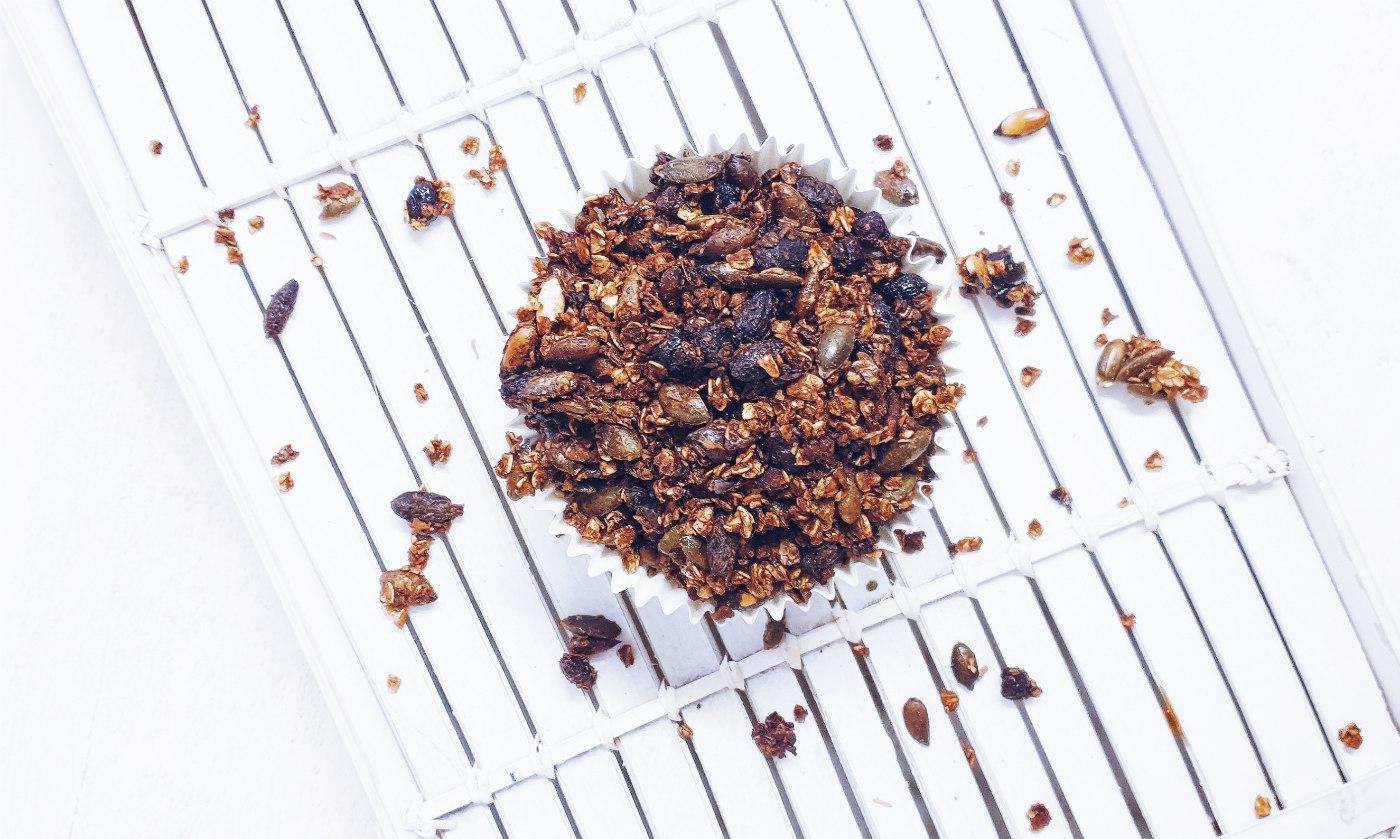 Receta de granola casera saludable