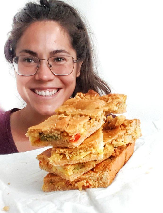 Empanada gallega sin gluten de bacalao y maíz