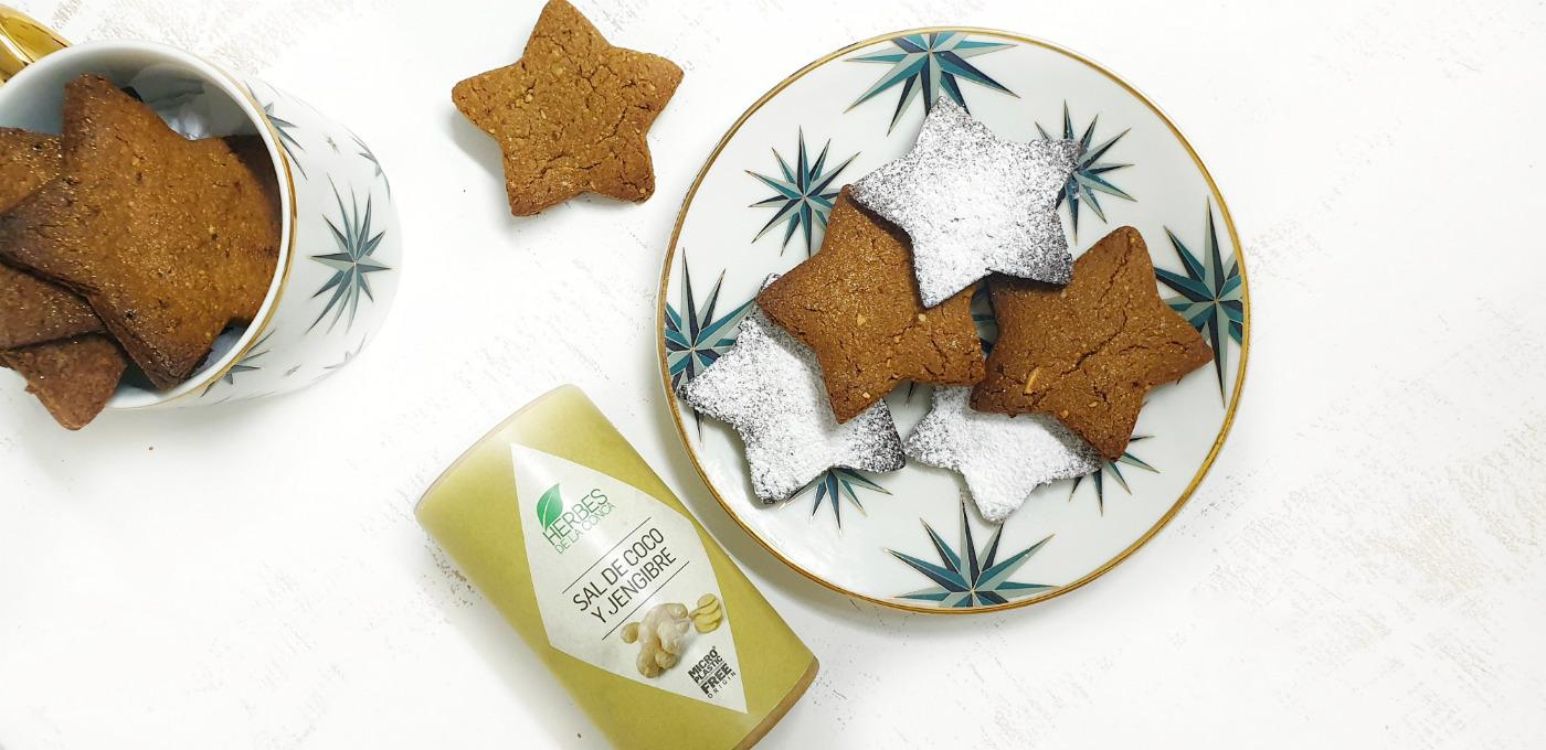 galletas de jengibre y sal de coco