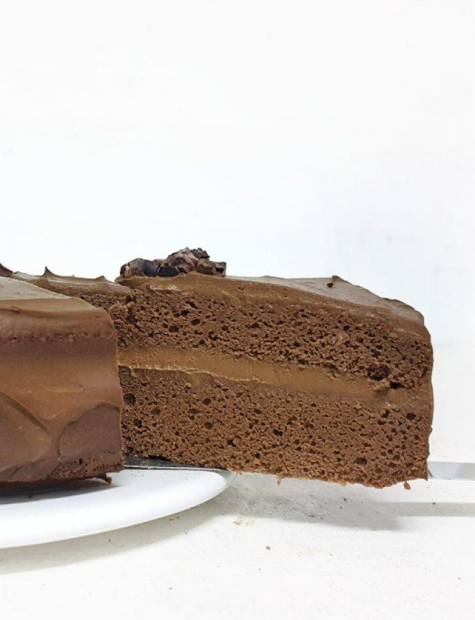 Pastel de chocolate saludable, sin gluten y sin azúcar