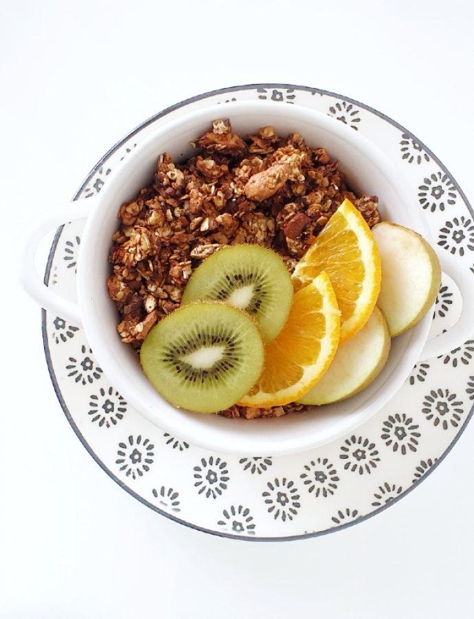 Granola casera de naranja y anacardos
