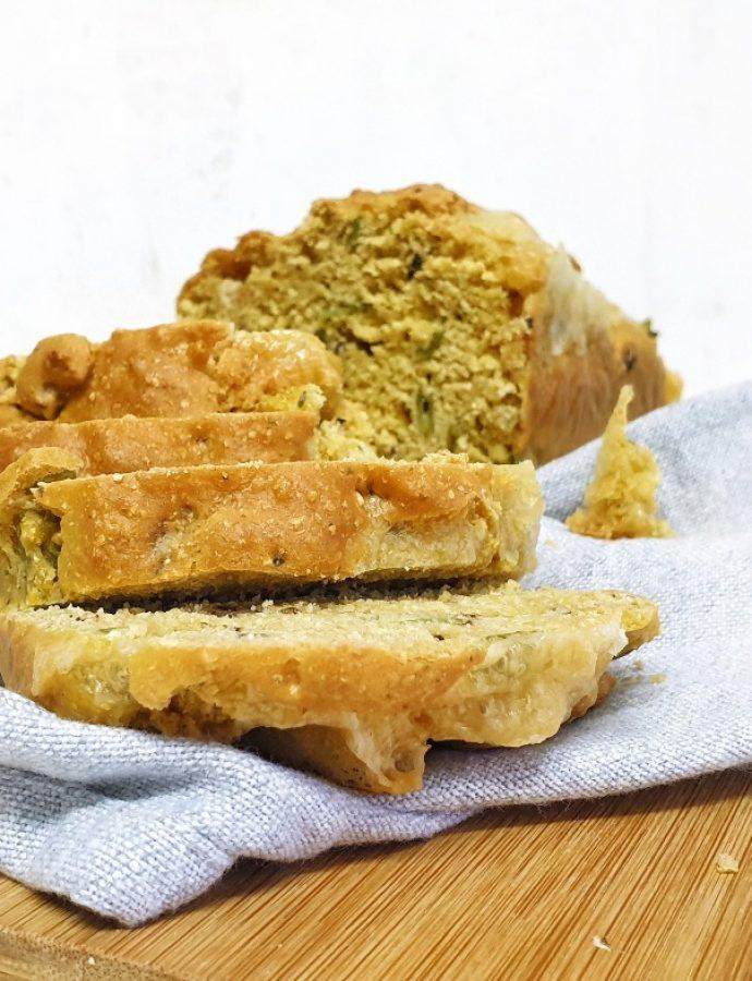 Pastel de garbanzos, queso y judías sin gluten