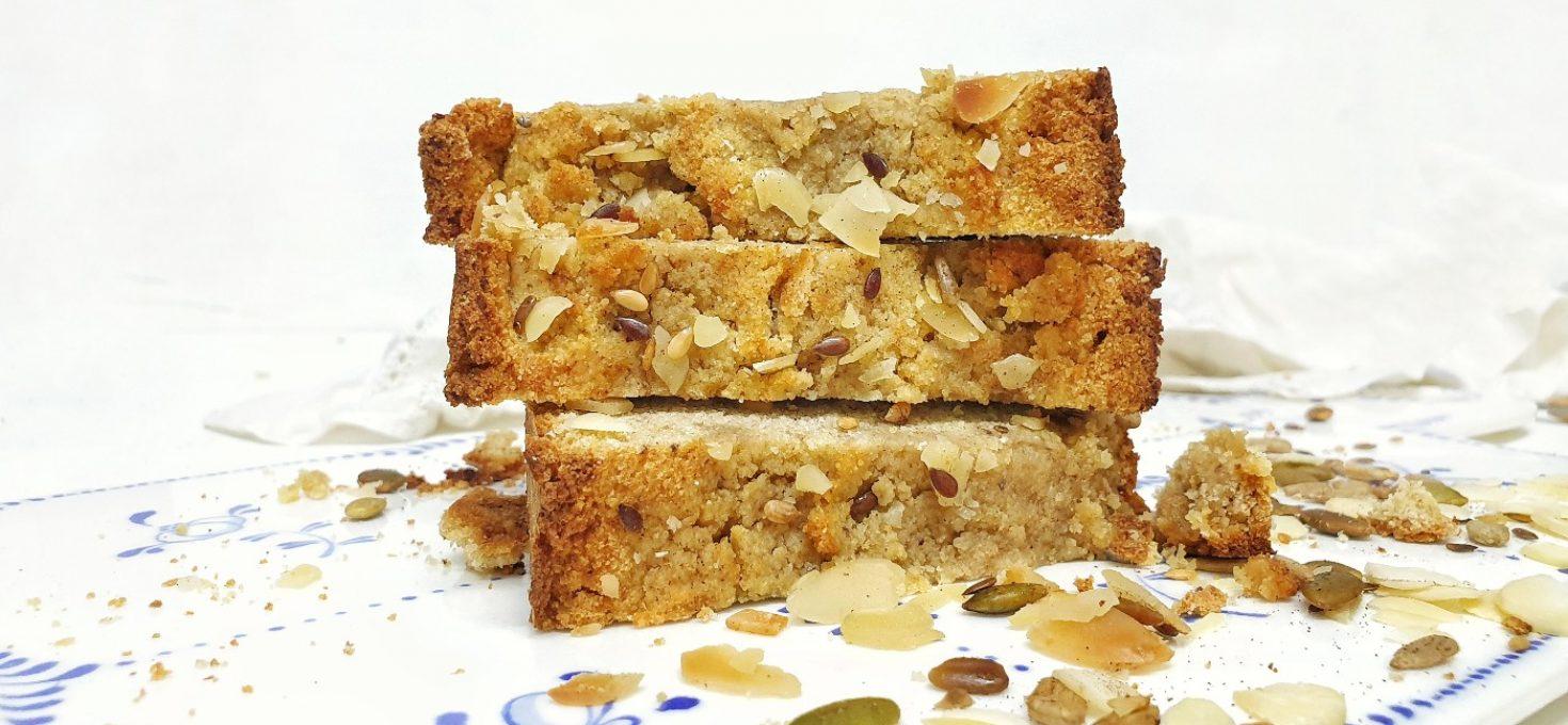 Pastel de polenta dulce sin gluten y sin lactosa