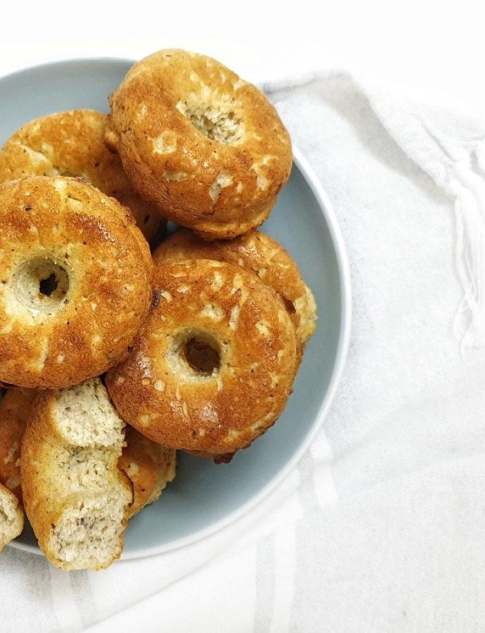 Keto donuts de almendra y coco sin gluten muy esponjosos