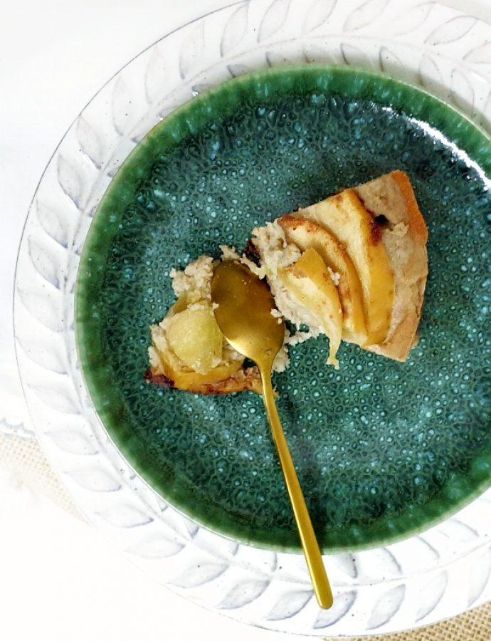 Pudin de manzana y coco sin gluten, sin lactosa y sin azúcar
