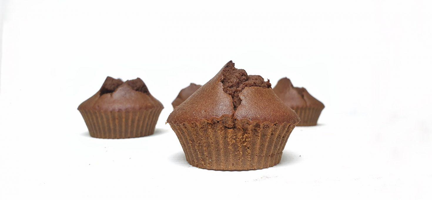 Magdalenas de chocolate exprés en airfryer